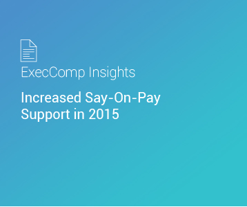 ExecComp Insights: Increased Say-On-Pay Support in 2015