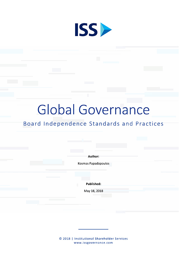 Global Governance: Board Independence Standards and Practices