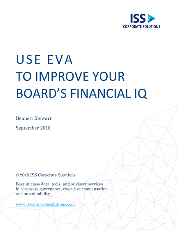 Use EVA to Improve Your Board's Financial IQ