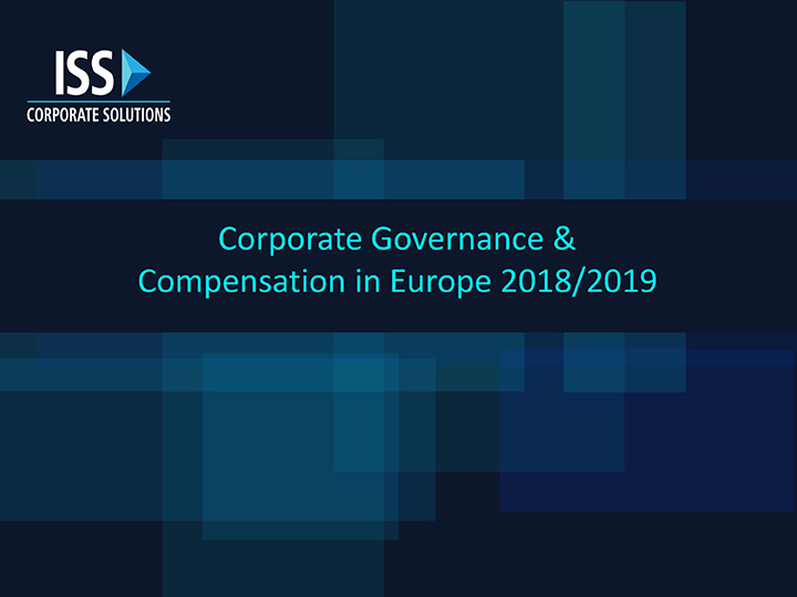 Corporate Governance & Compensation in Europe 2019